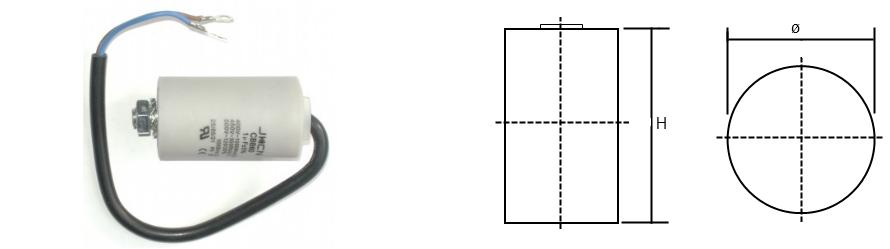 Kondenzátor és körvonalrajz