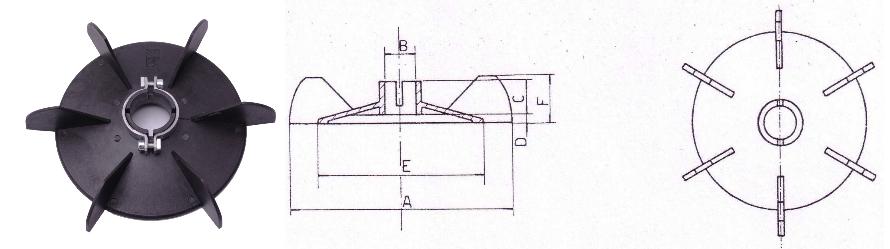 Ventilátor A-Típus és körvonalrajz