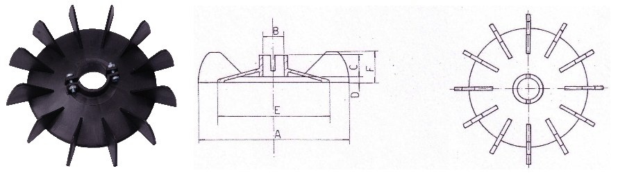 Ventilátor F-Típus és körvonalrajz